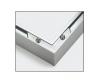 Cadre en aluminium Triptyque 120 x 40 cm – argenté mat