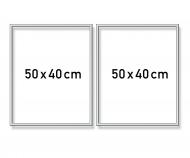 Cadre en aluminium Diptyque 50 x 80 cm – argenté mat