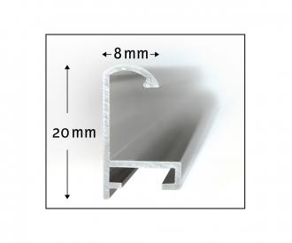 Aluminium frame Quattro 18 x 24 cm – mat silver
