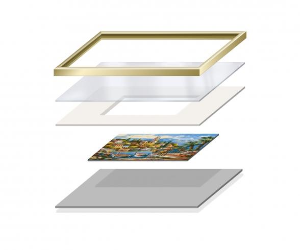 Passepartout per dipinti in formato 24 x 30 cm