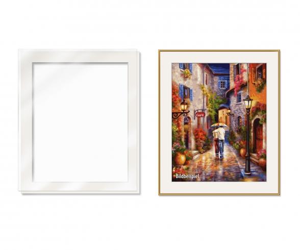 Passe-partout avec vitre en verre synthétique pour un tableau de format 40 x 50 cm