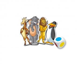 XXL Puzzle Zoo 2 in 1 mit Spiel