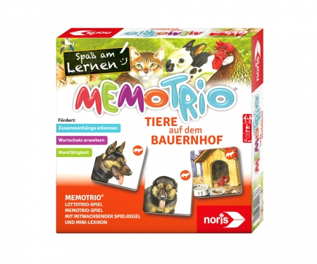 Memo Trio farm animals