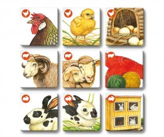 MemoTrio Tiere auf dem Bauernhof