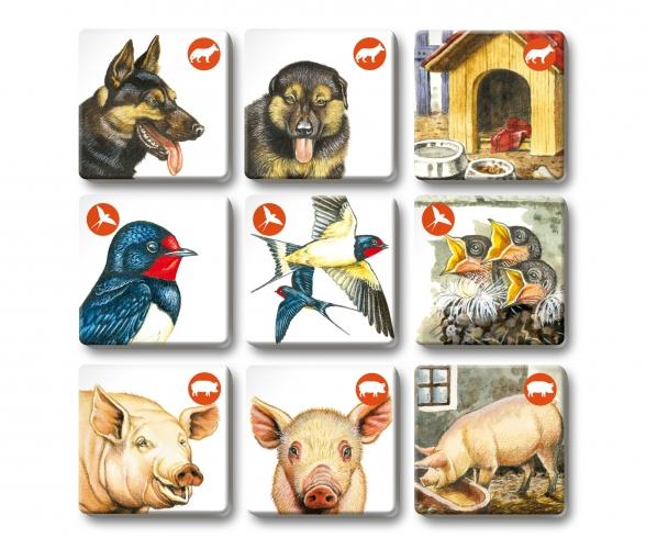 MemoTrio Les animaux de la ferme