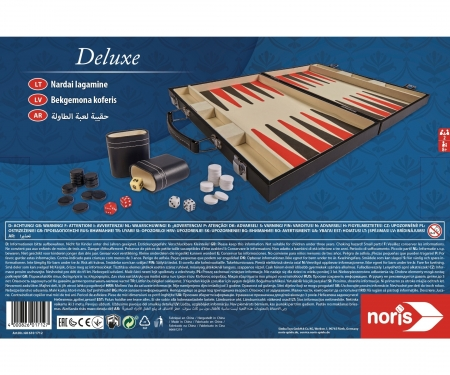 "Deluxe Backgammon case 15"""