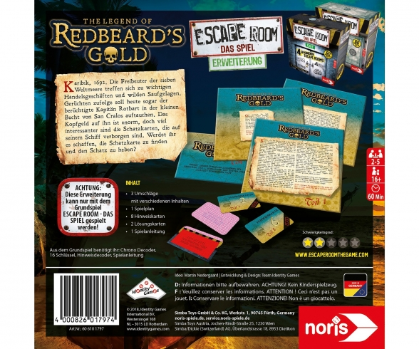 Escape Room Redbeard's Gold