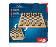 Deluxe Wooden - Chess & Checkers