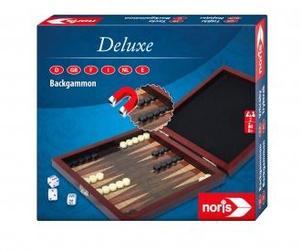 Deluxe magnetic Backgammon in wooden box