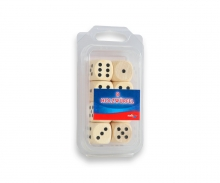 Wooden dices natural colour 20mm