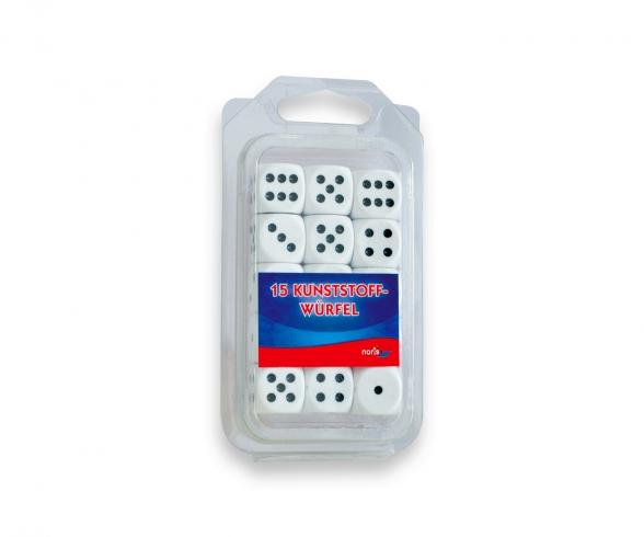 15 Plasticdice white