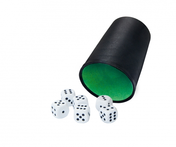 Dicecup with 6 dices
