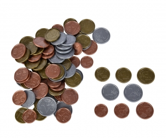 Euro-Spielgeld Münzen