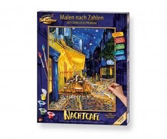 Caféterrasse am Abend – Nachtcafé nach Vincent van Gogh Malen nach Zahlen Vorlage