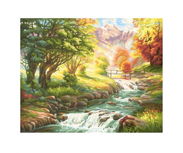 Sur les bords d'un ruisseau à truites