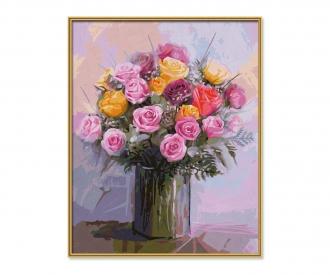 Bouquet de roses pastel