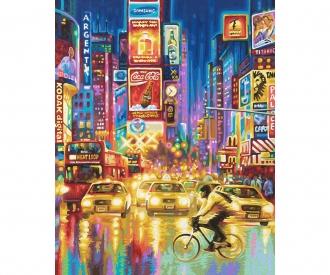 New York City - Times Square bei Nacht Malen nach Zahlen Vorlage