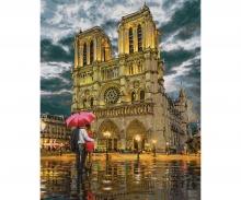 """Die Kathedrale """"Notre-Dame in Paris"""" Malen nach Zahlen Vorlage"""