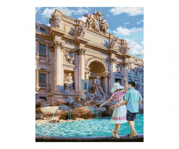 La fontaine de Trevi á Rome