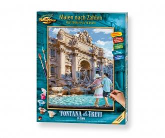 Fontana di Trevi in Rom Malen nach Zahlen Vorlage
