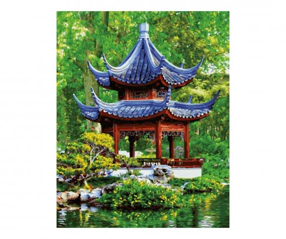 Pagoda in a Japanese garden