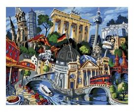 Eine Reise nach Berlin - nach Miguel Freitas Malen nach Zahlen Vorlage