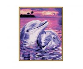 Delfine Malen nach Zahlen