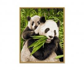 Pandabären Malen nach Zahlen