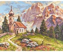 Kirchlein in den Dolomiten
