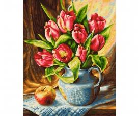 Tulpenstrauß Malen nach Zahlen