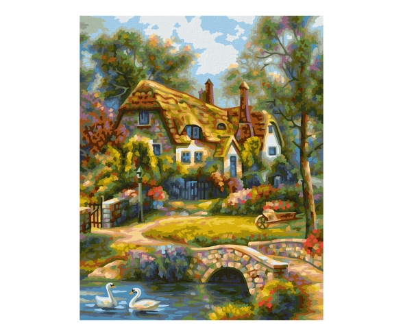 Old English Cottage Malen nach Zahlen