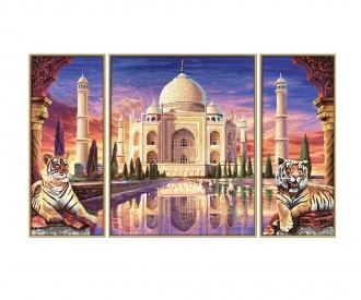 Taj Mahal – Denkmal ewiger Liebe Malen nach Zahlen