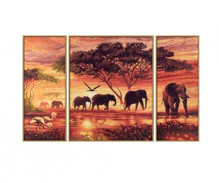 L'Afrique – Caravane d'eléphants