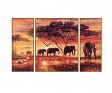 Afrika – Elefantenkarawane Malen nach Zahlen
