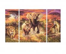 Afrika – Die großen Fünf Malen nach Zahlen