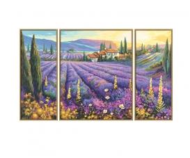 Lavendelfelder Malen nach Zahlen