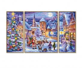Weiße Weihnacht Malen nach Zahlen