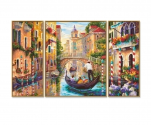 Venedig - Die Stadt in der Lagune Malen nach Zahlen