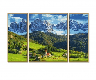 St. Magdalena in Südtirol Malen nach Zahlen Vorlage