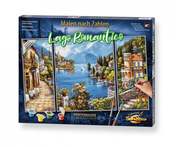 Lago Romantico Malen nach Zahlen