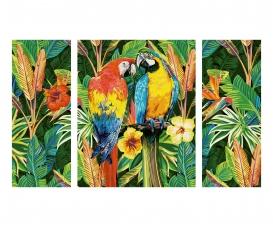 Papageien im Regenwald Malen nach Zahlen