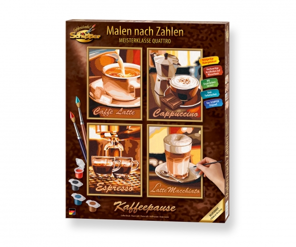 Kaffeepause Malen nach Zahlen