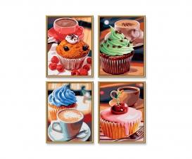 Cupcakes Malen nach Zahlen