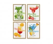 Cocktails Malen nach Zahlen