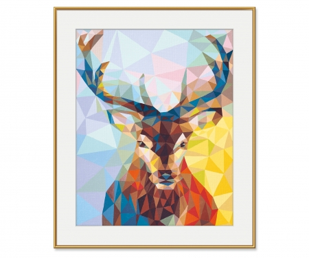 Cerf – Art Polygone