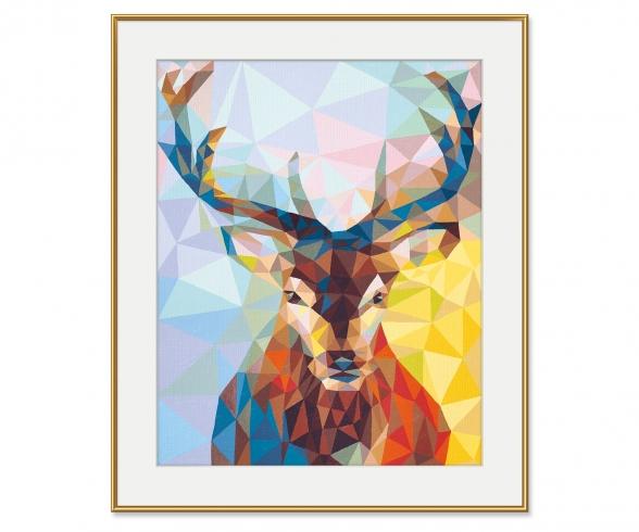 Hirsch Polygon-Art Malen nach Zahlen Vorlage