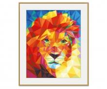 Löwenkopf – Polygon-Art Malen nach Zahlen