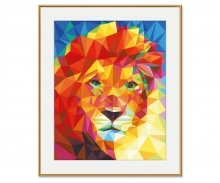 Tête de lion – Art Polygone
