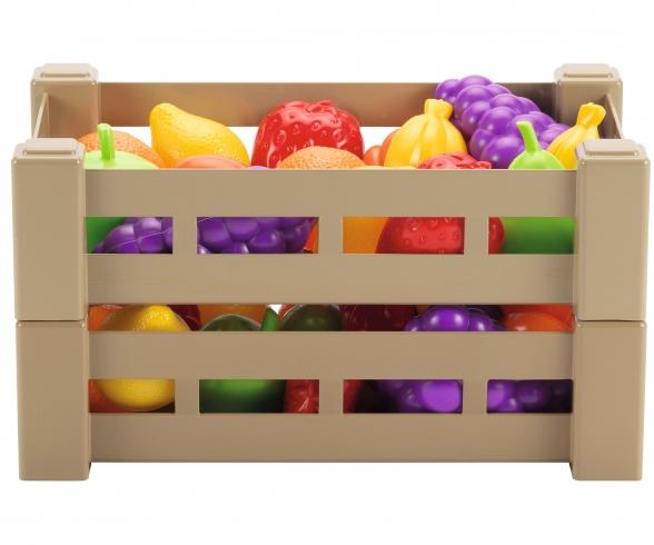 Ecoiffier Obst- oder Gemüsekiste, Lieferung: 1 Kiste / zufällige Auswahl