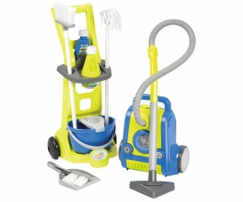 clean service trolley + vacuum cleaner